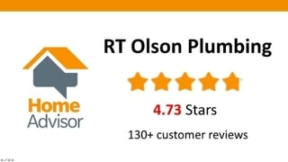Home Advisor reviews for RT Olson Plumbing