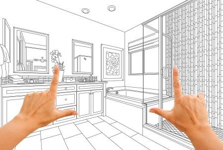 bathroom remodel plans