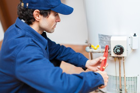 hot water heater repair by plumber