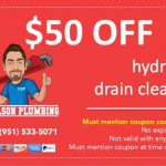 $50 coupon off hydro-jet drain cleaning. Must mention code Hydro50