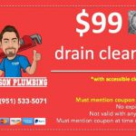 "$99 drain cleaning coupon. Must mention coupon code ""DC99"""