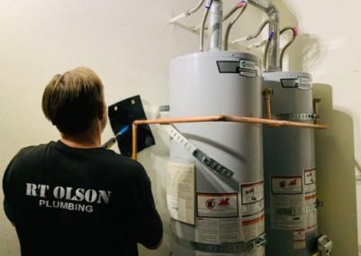 dual water heater replacement by RT Olson Plumbing Company