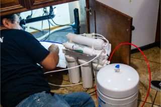 reverse osmosis installation