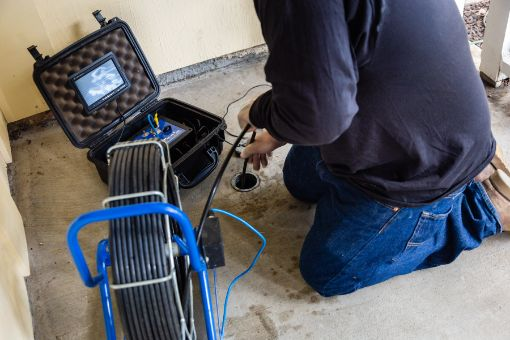 video camera drain inspection by RT Olson Plumbing