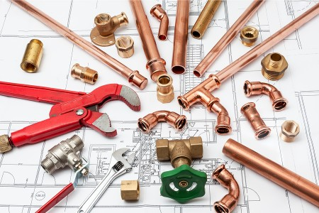 copper pipe and fittings for whole house repipe
