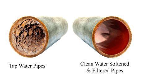 hard water damage inside copper pipe