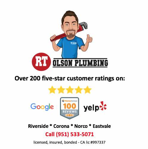 RT Olson Plumbing 300+ five-star reviews