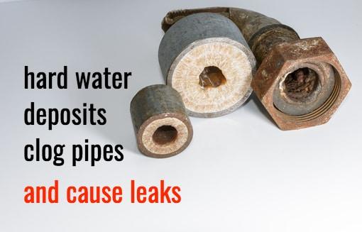 hard water damage to water heater