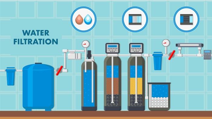 water filtration illustration