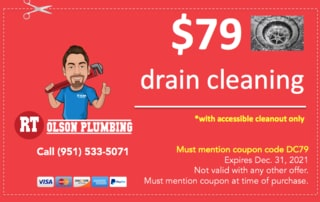 RT Olson Plumbing Coupon - $79 drain cleaning
