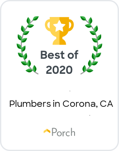 Porch badge - Best of 2020 Plumbers in Corona CA