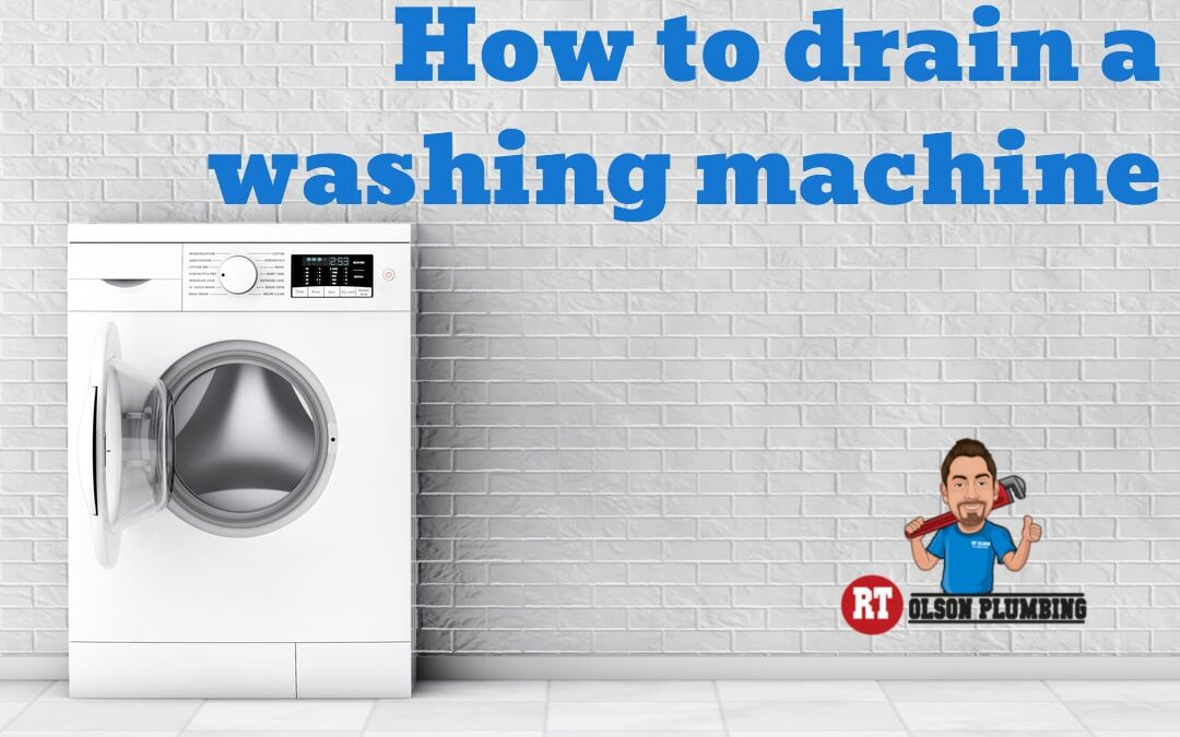 how to drain a washing machine - featured image