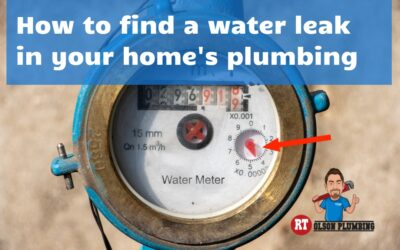How to find a water leak in your home's plumbing
