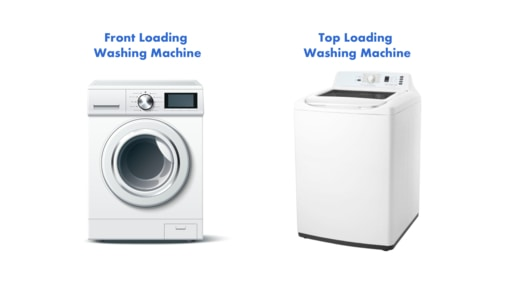 top and front loading washing machines