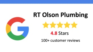 Google reviews for RT Olson Plumbing 108 reviews 4.8 stars