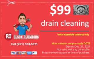 RT Olson Plumbing Coupon - $99 drain cleaning
