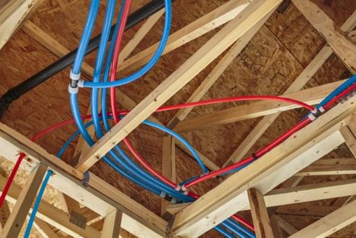 PEX pipe running in attic