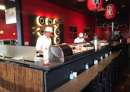 Inside Jono Japanese Restaurant in Corona CA
