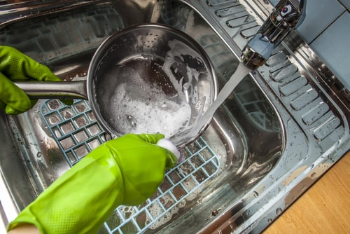 hot water heater needed to clean dishes